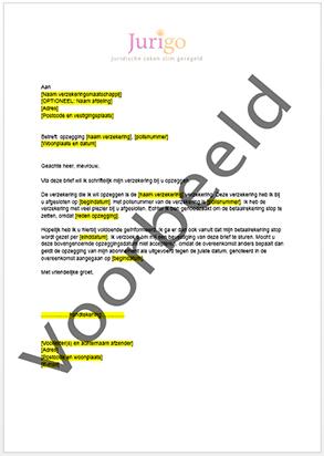 Brief schrijven opzeggen betaalrekening