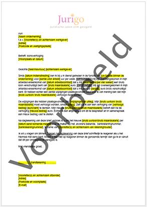 Brief schrijven verzoek tot loonsverhoging