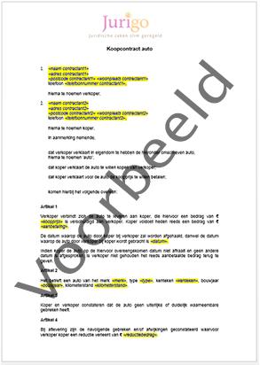 ontbindende voorwaarden voorlopig koopcontract